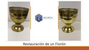 Restauración Florón en MyF_Metal_Mecanizados y Formas