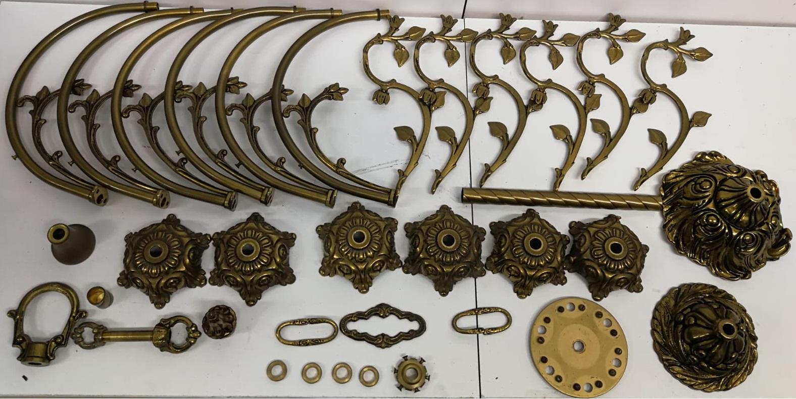 Restauración de piezas metálicas: lámpara en MyF Metal